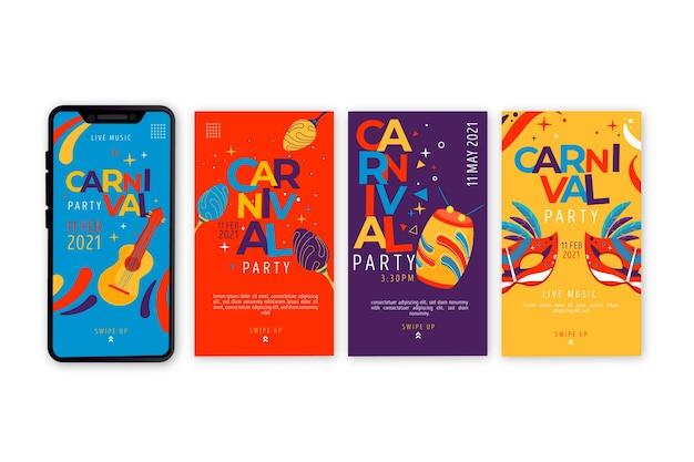 Carnaval party sociale media verhalencollectie