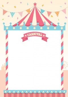 Carnaval pastel sjabloon