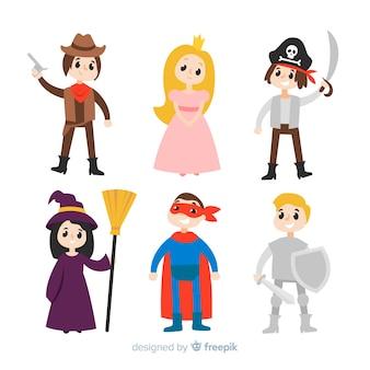 Carnaval-personages in kostuum
