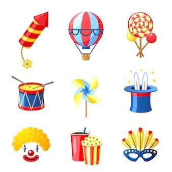 Carnaval-pictogrammen instellen