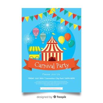 Carnaval-sjabloon voor feestvliegtuigen