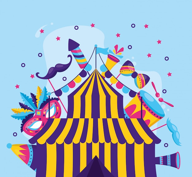 Carnaval tent amusement
