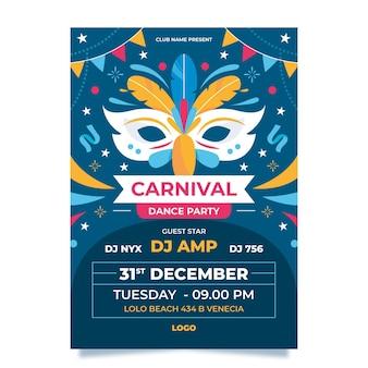 Carnaval van venetië poster sjabloon
