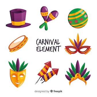 Carnival kleurrijke elementen instellen