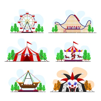 Carnival ride vector pack
