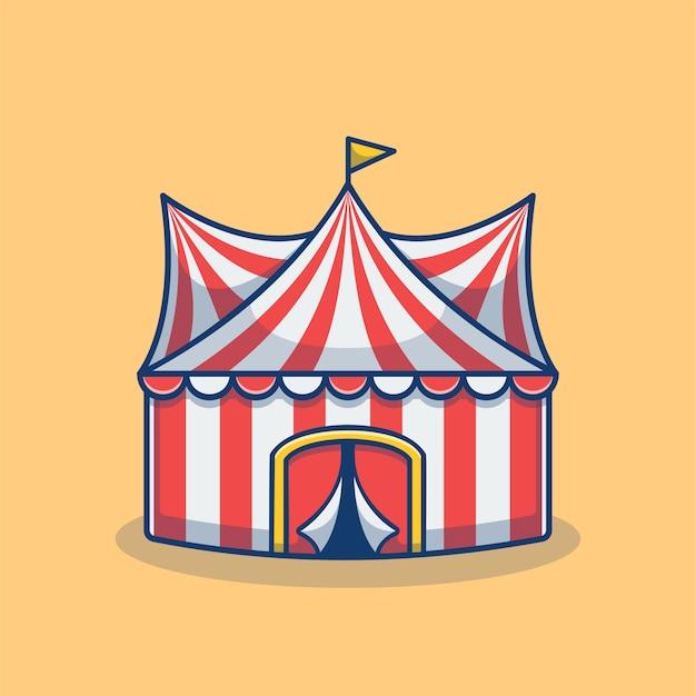 Carnival tent en pretpark cartoon
