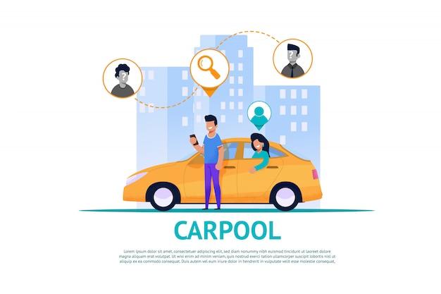 Carpool service en route en trafic-samenwerking