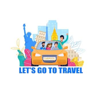 Carpool voor reizen
