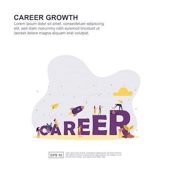 Carrière groei concept
