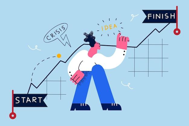 Carrière-uitdagingen in bedrijfsconcept