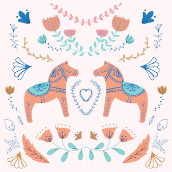 Carrousel paard illustratie