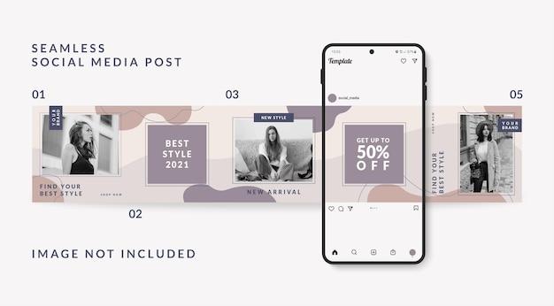 Carrousel sociale media post sjabloon mode verkooppromotie