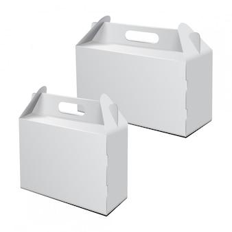 Carry verpakking. vector mockup.