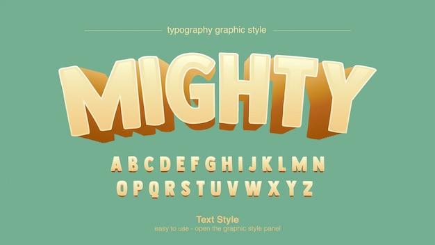 Cartoo comics gele boog typografie grafische stijl