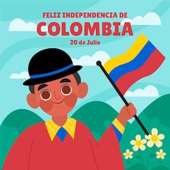 Cartoon 20 juli - independencia de colombia illustratie
