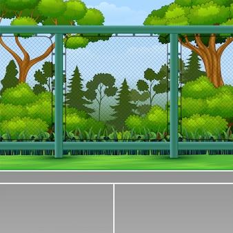 Cartoon achtergrond van sportveld voor spel