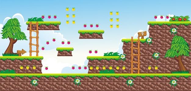 Cartoon achtergrond voor het maken van 2d-spel