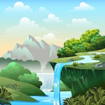 Cartoon achtergrond