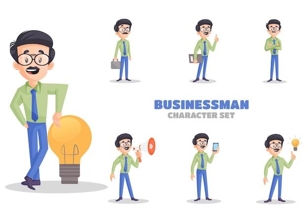 Cartoon afbeelding van zakenman tekenset