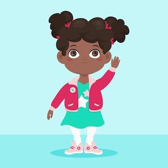 Cartoon afrikaans amerikaans meisje