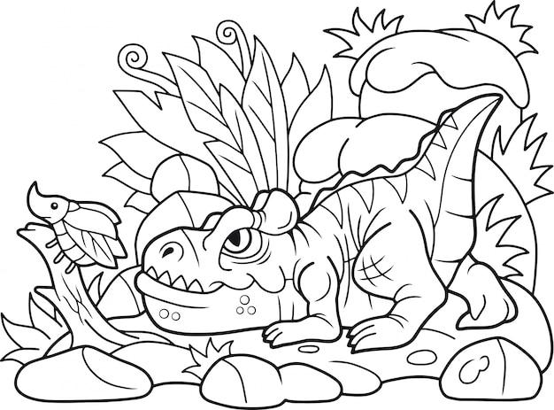 Cartoon allosaurus