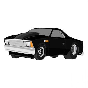 Cartoon auto vectorillustratie geïsoleerd op een witte achtergrond bewerkbare indeling