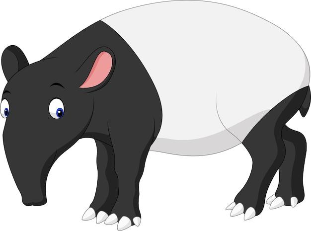 Cartoon aziatische tapir