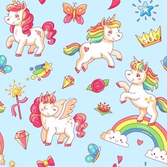 Cartoon babe pony schets schattige achtergrond.