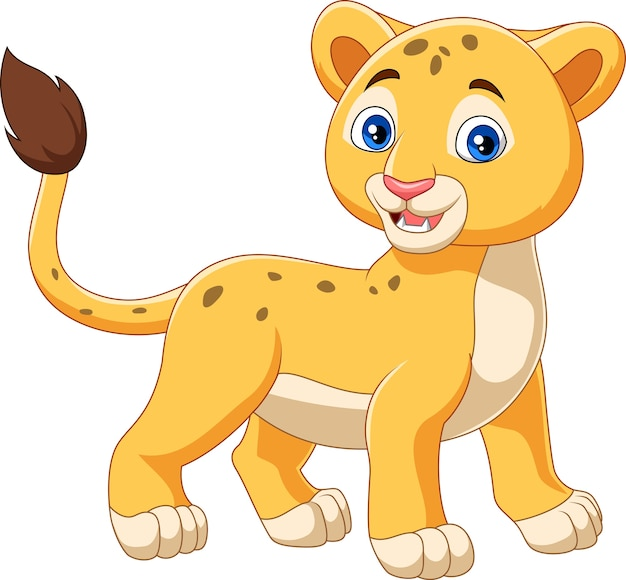 Cartoon baby leeuw geïsoleerd op een witte achtergrond