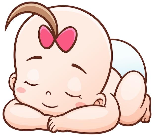 Cartoon baby slaapt