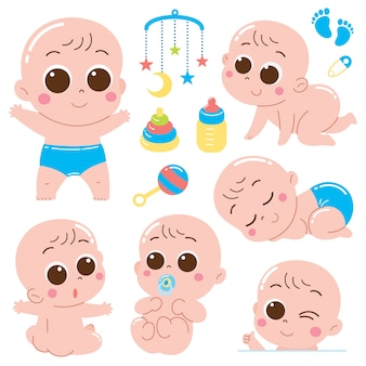 Cartoon baby tekenset