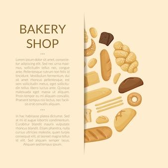 Cartoon bakkerij-elementen van de banner