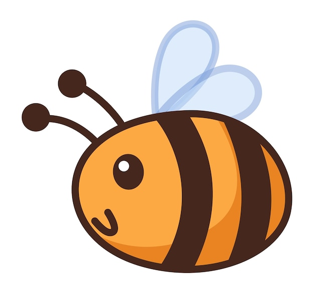Cartoon bij. grappige hommel, hommel, honingbij, wesp clipart