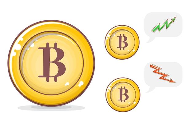 Cartoon bitcoin illustratie