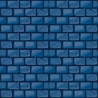 Cartoon blauwe stenen muur textuur