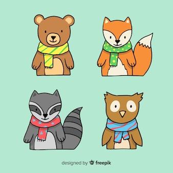 Cartoon bos dieren pack