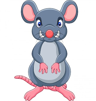 Cartoon boze muis