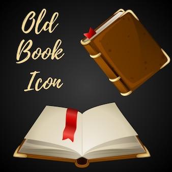 Cartoon bruine boek