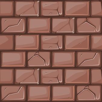 Cartoon bruine stenen muur textuur