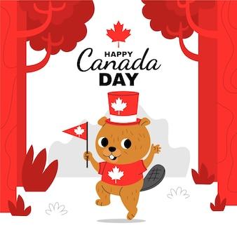 Cartoon canada dag illustratie