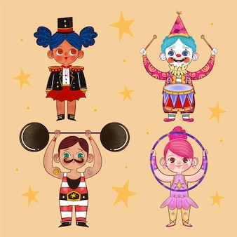 Cartoon carnaval kinderkostuums met sterren
