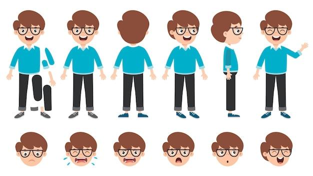 Cartoon character design voor animatie