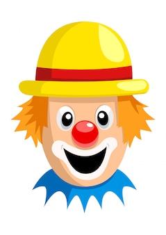 Cartoon clown gezicht