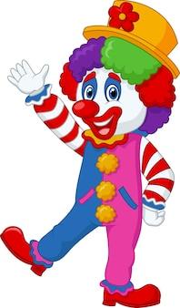Cartoon clown zwaaiende hand