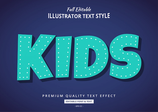 Cartoon comic text style effect