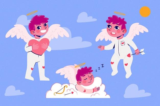 Cartoon cupido character pack