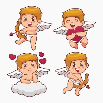 Cartoon cupido-tekenverzameling
