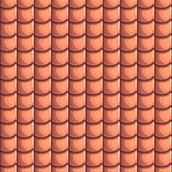 Cartoon dakpannen naadloze achtergrond