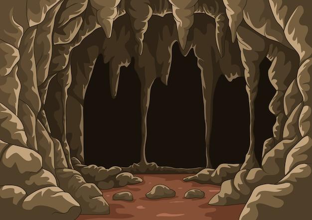 Cartoon de grot met stalactieten