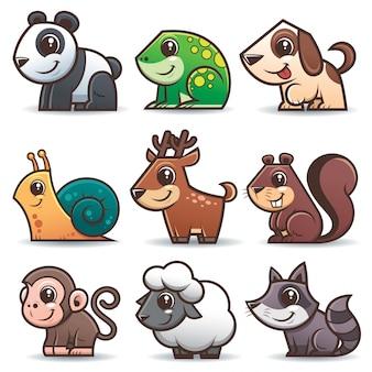 Cartoon dieren set